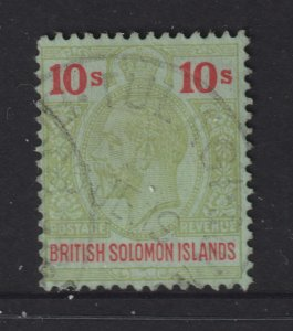 Solomon Is a used 10/- KGV from the 1925 set (CA watermark)