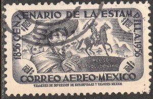 MEXICO C232, $1P Centenary of 1st postage stamps Used VF. (1092)