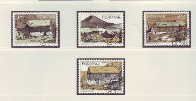 Faroe Islands Sc 243-6 1992 traditional house stamps used