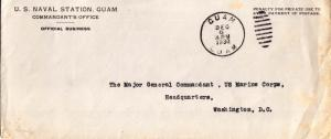 Guam U.S. Naval Station, Guam Penalty 1930 Guam, Guam to Washington, D.C.  So...