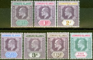 Leeward Islands 1905-08 set of 7 SG29-35 V.F & Fresh Very Lightly Mtd Mint Lo...