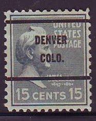 Denver CO, Scott 820-61 Bureau Precancel, $2.5 CV