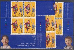 Canada - 2001 47c Shriners Imprint Blocks VF-NH #1917
