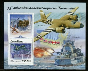 GUINEA BISSAU 2019 75th ANNIV OF THE NORMANDY INVASION D-DAY S/SHEET MINT NH