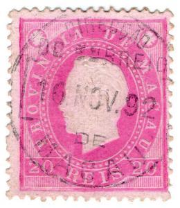 (I.B) Portugal Colonial Postal : Macau (China) 20r