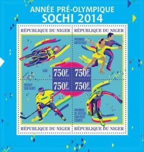 NIGER 2013 SHEET SOCHI 2014 OLYMPIC GAMES SPORTS nig13308a