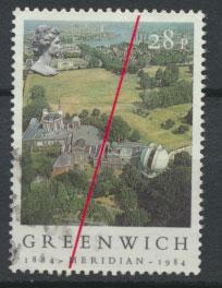 Great Britain SG 1256 - Used - Greenwich Meridian