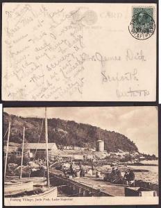 Canada #10565 - 1c Admiral on postcard - Train No. / Ott & Ft Wm RPO