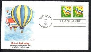 2530 Hot Air Ballooning Unaddresssed Fleetwood FDC