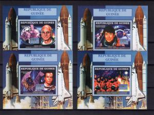 Guinea 2006 Mi.# 4521/4524  SPACE Columbia Disaster/Doi/Baudry/Tito 4 SS Imperf