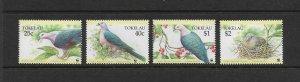 BIRDS - TOKELAU #204-7  WWF  MNH