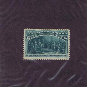 SC# 238 UNUSED OG LH 15c COLUMBUS ANNOUNCING HIS DISCOVERY, 1893, F - VF