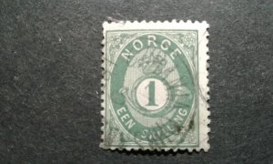 Norway #16 used e208 10817