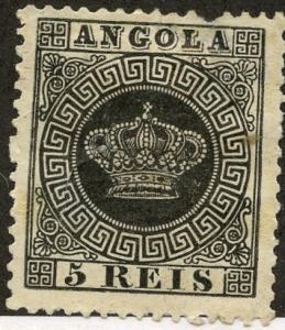 Angola, Scott #1, Unused, Hinged