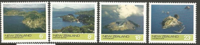 NEW ZEALAND 563-566, MNH, C/SET OF 4, OFFSHORE ISLANDS, 1974
