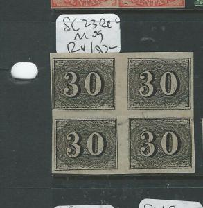BRAZIL (P1106B) NUMERAL 30R  SC23 BL OF 4  MOG