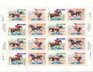 Canada - 1999 Canadian Horses Imprint Sheet VF-NH #1794a