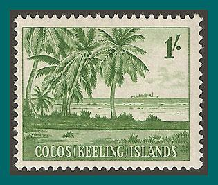 Cocos 1963 Palm Trees, MLH #4,SG4