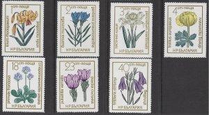 Bulgaria #2059-65 MHN set, Various flowers, issued 1972