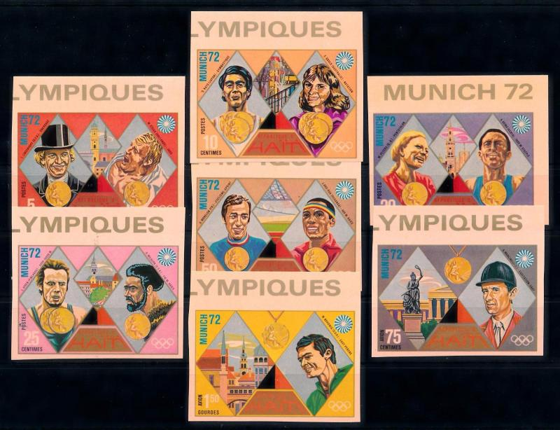 [63214] Haiti 1972 Olympic Games Munich Imperf. From Set MNH