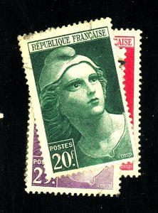 FRANCE #553-6 USED VF Cat $11