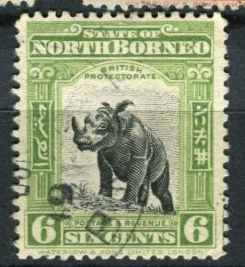 NORTH BORNEO; 1925 early Pictorial issue fine used 6c. value + Postal cancel