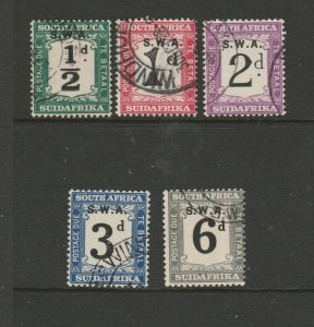 South West Africa 1928/9 Postage dues Used SG D42/6