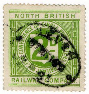 (I.B) North British Railway : Letter Stamp 2d (Leven)
