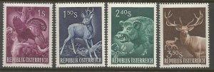AUSTRIA  640-643  HINGED,  ANIMALS