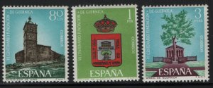 SPAIN, 1347-1349, (3) SET,  MNH, 1966 Founding of Guernica and Luno