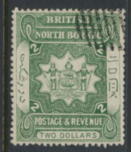 North Borneo  SG 48  CTO  Dull Green  please see scans & details