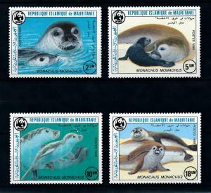 [99725] Mauritania 1986 Marine Life Seals WWF  MNH