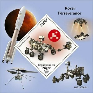 2021/06- NIGER -  SPACE PERSEVERANCE          1V    MNH **