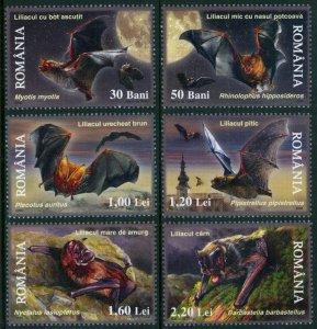 Romania 2006 Scott #4858-4863 Bats Mint Never Hinged