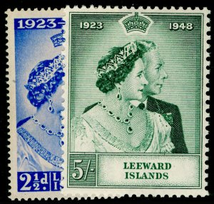 LEEWARD ISLANDS SG117-118, COMPLETE SET, NH MINT. RSW