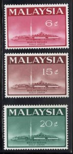 Malaysia Scott 15-17 Mint Hinged MH* National Mosque set
