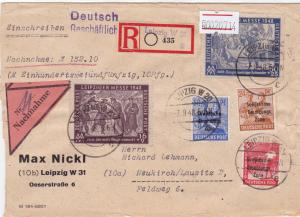 Germany Soviet Zone 1948 Leipzig to Neukirch stamps cover  R20714