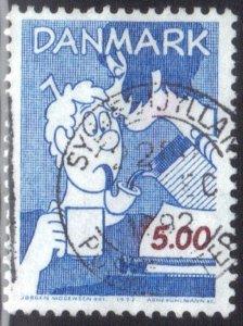 DENMARK SC# 971 **USED** 5k 1992  ART SEE SCAN