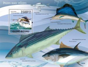 Guinea-Bissau MNH S/S Fast Fish Marine Life 2009