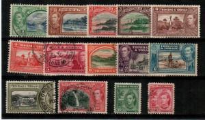 Trinidad and Tobago Scott 50-61 Used (#60 is mint) - Catalog Value $66.75