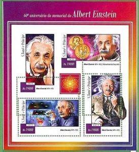 A3513-Sao Tome & Principe ERROR MISSPERF 2015 PEOPLE Albert Einstein Science