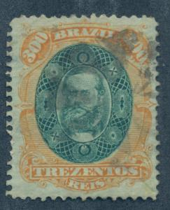 BRAZIL SC# 78 F-VF U 1878