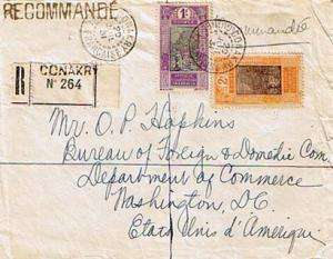 French Guinea 1F and 2F Ford at Kitim 1931 Conakry, Guinee Francaise Register...