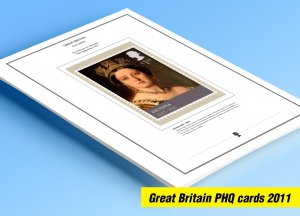 COLOR PRINTED GREAT BRITAIN 2011 PHQ CARDS STAMP ALBUM PAGES (129 illust. pages)