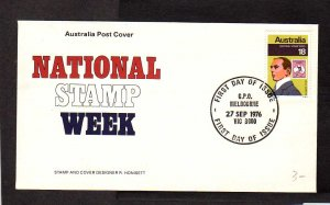 Australia National Stamp Week Cover FDC First Day Melbourne 1976 Honisett