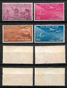 INDIA STAMPS 1954 SET COMPLETE INDIAN POSTAGE STAMPS 100 ANN. Sc.#248-251. MLH