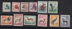 J28462,1954 south africa part of set mnh #200-5,207-10,212-3  wild animals