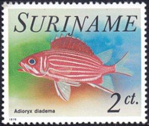 Surinam # 448 mnh ~ 2¢ Fish - Adioryx diadema
