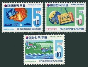 Korea South 827-829,MNH.Michel 841-843. Economic Development 5-year plan,1972.