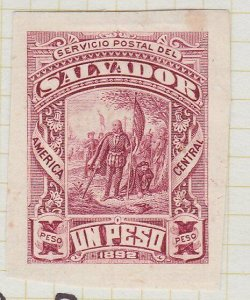 SALVADOR 1892 1p imperf proof..............................................G712